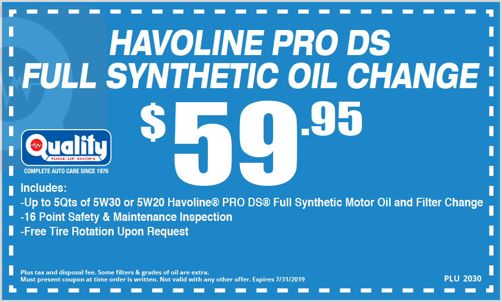 Full Synthetic Oil Change Coupon >> Havoline Pro Ds Full Synthetic Oil Change Coupon Arden Way