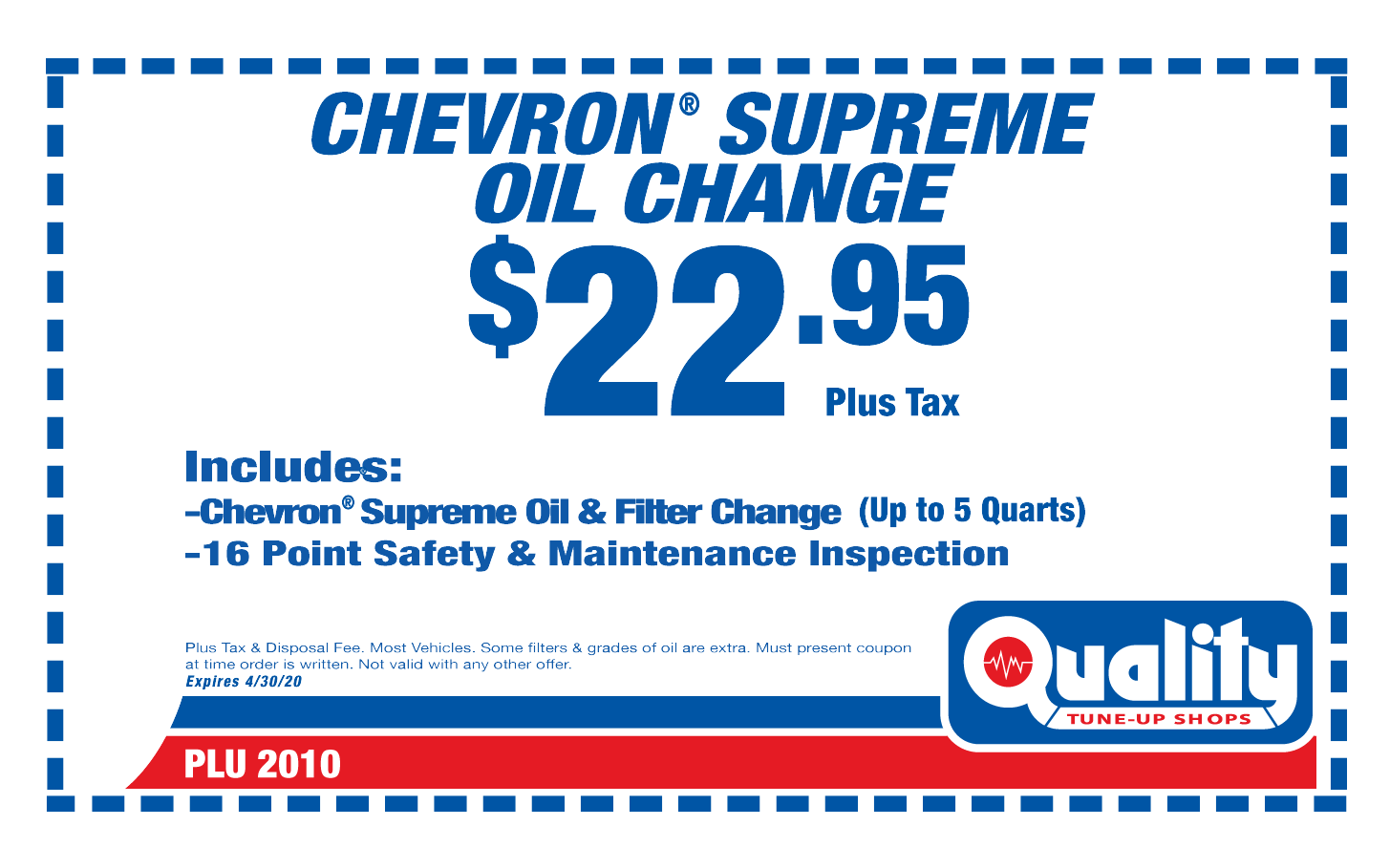Chevron Supreme Oil Change