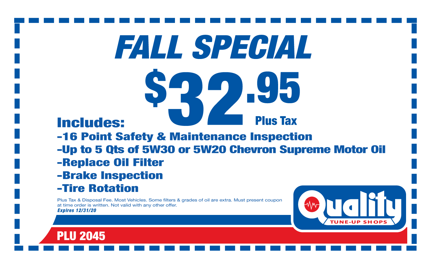 Fall Special Oil Change and Tire Rotation