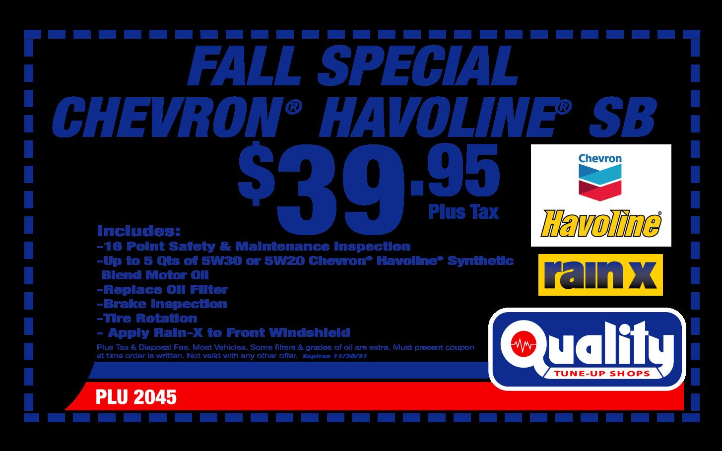 Fall Special Chevron Havoline SB