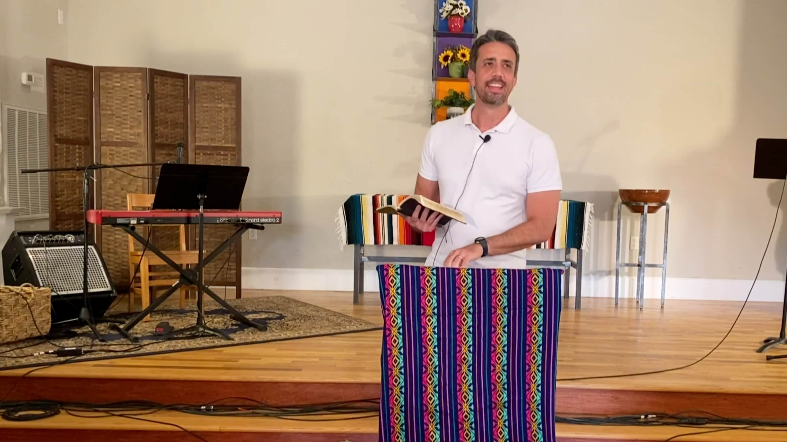 Gustavo Formenti preaches in the NCEL sanctuary.