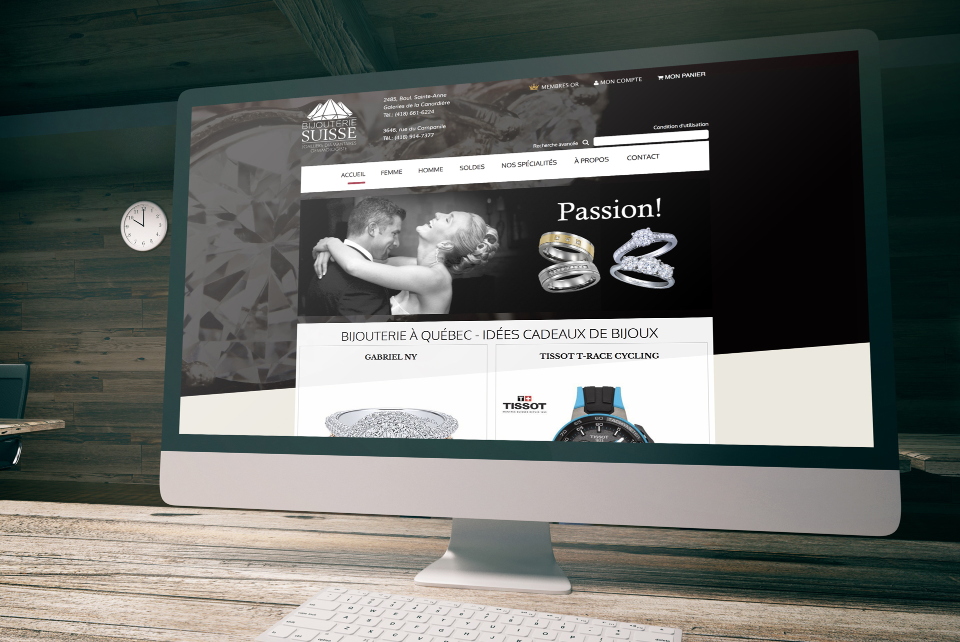 Web design / Bijouterie suisse