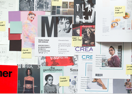 Graphic design strategy and process notes, images and concepts - cream magazine