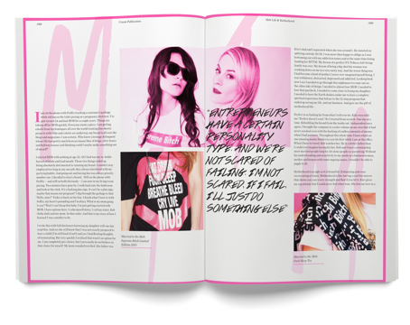 Leah McSweeney feature article main spread from Married to the Mob - cream magazine