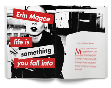 Erin Magee feature story on streetwear and Supreme spread and graphic - cream magazine