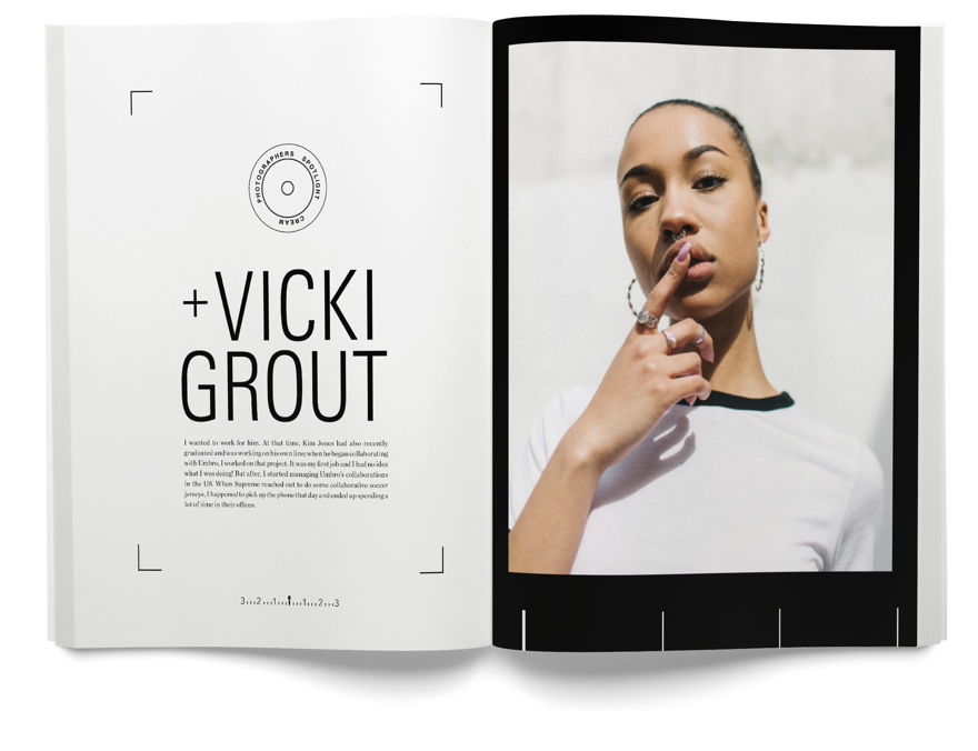 Vicki Grout photography feature article spread - cream magazine