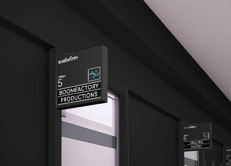Audiofirm  studios office signage