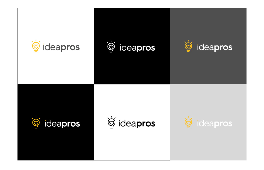 Ideapros logo and color usage cases