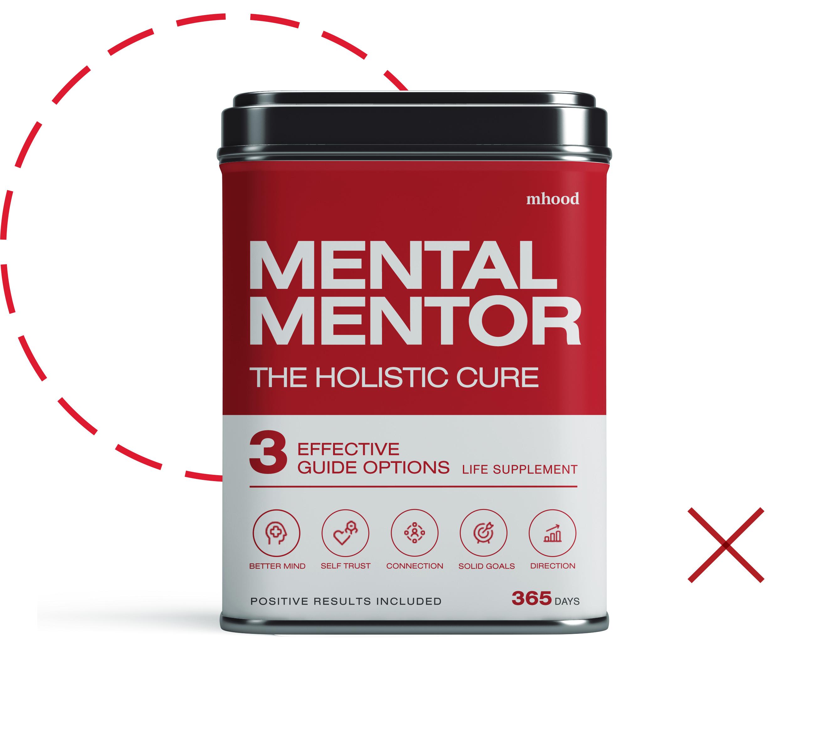 Mhood Mental Mentors holistic medicine can graphic