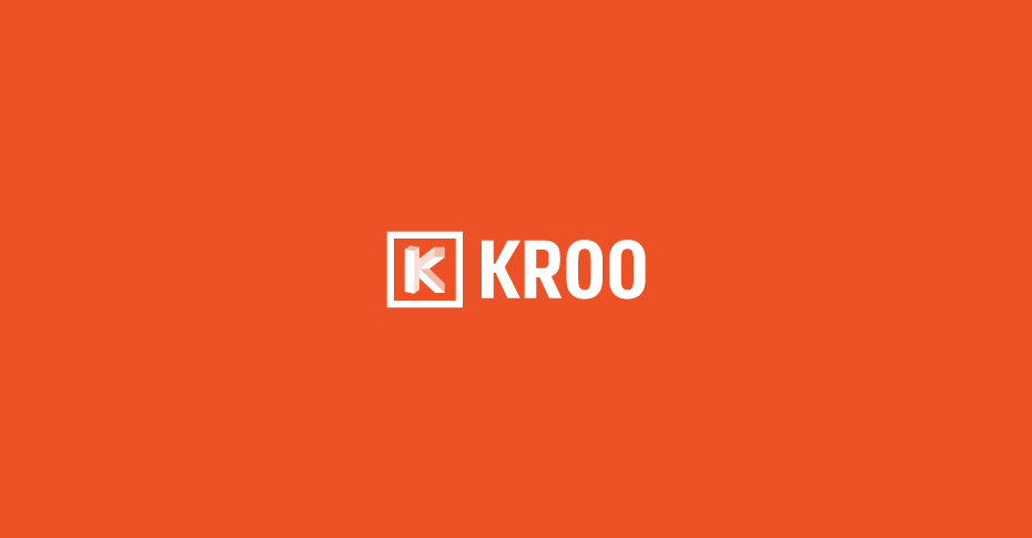 Kroo app logo on orange brand background
