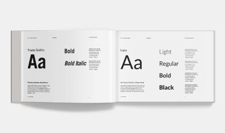 Kroo Mobile app brand guideline typography spread
