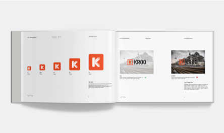 Kroo Mobile app brand guideline icon and photo use spread