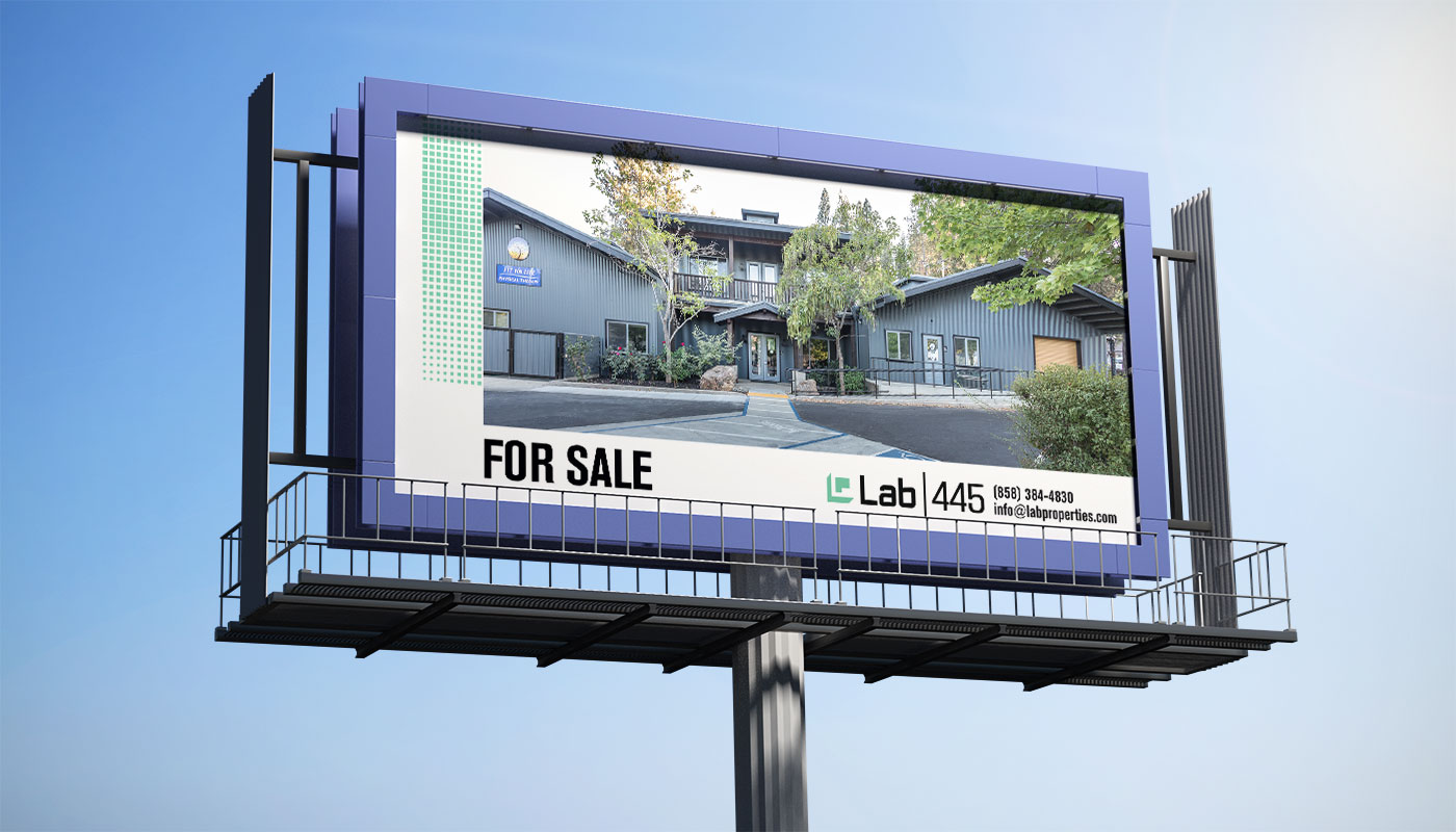 Lab Properties highway billboard design of property for sale