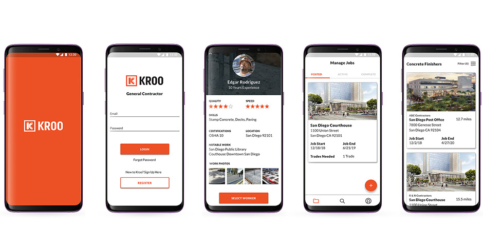 Kroo app galaxy phone design