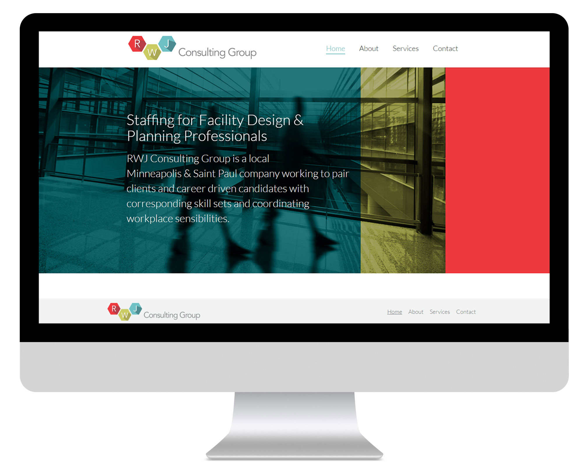 RWJ Consulting Group Homepage Design
