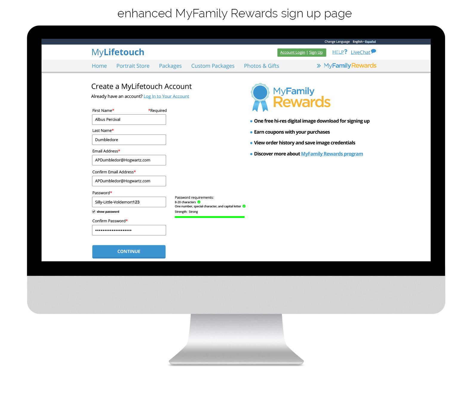 Rewards - Sign Up Page