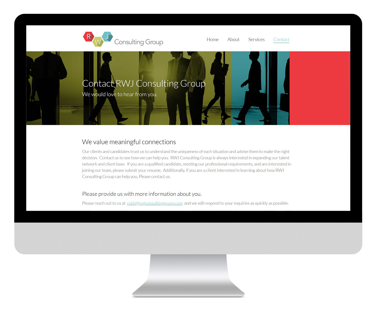 RWJ Consulting Group Contact Design