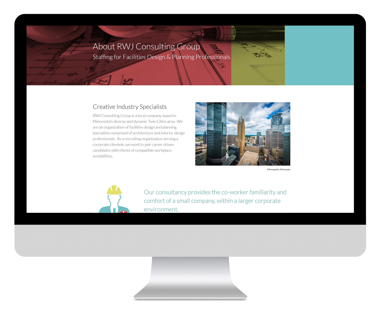 RWJ Consulting Group About Page Design