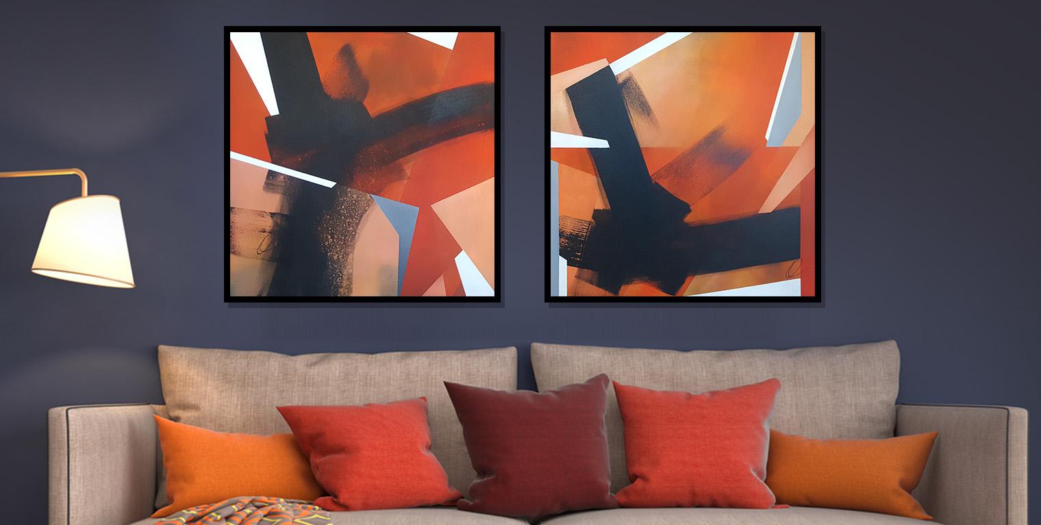Orange Crush No. 1&2 36x36