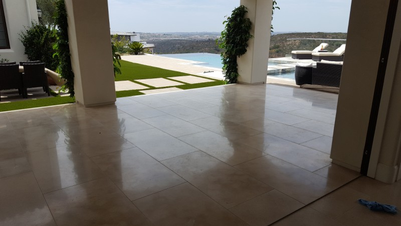 commercial stone polishing before and after san diego ca