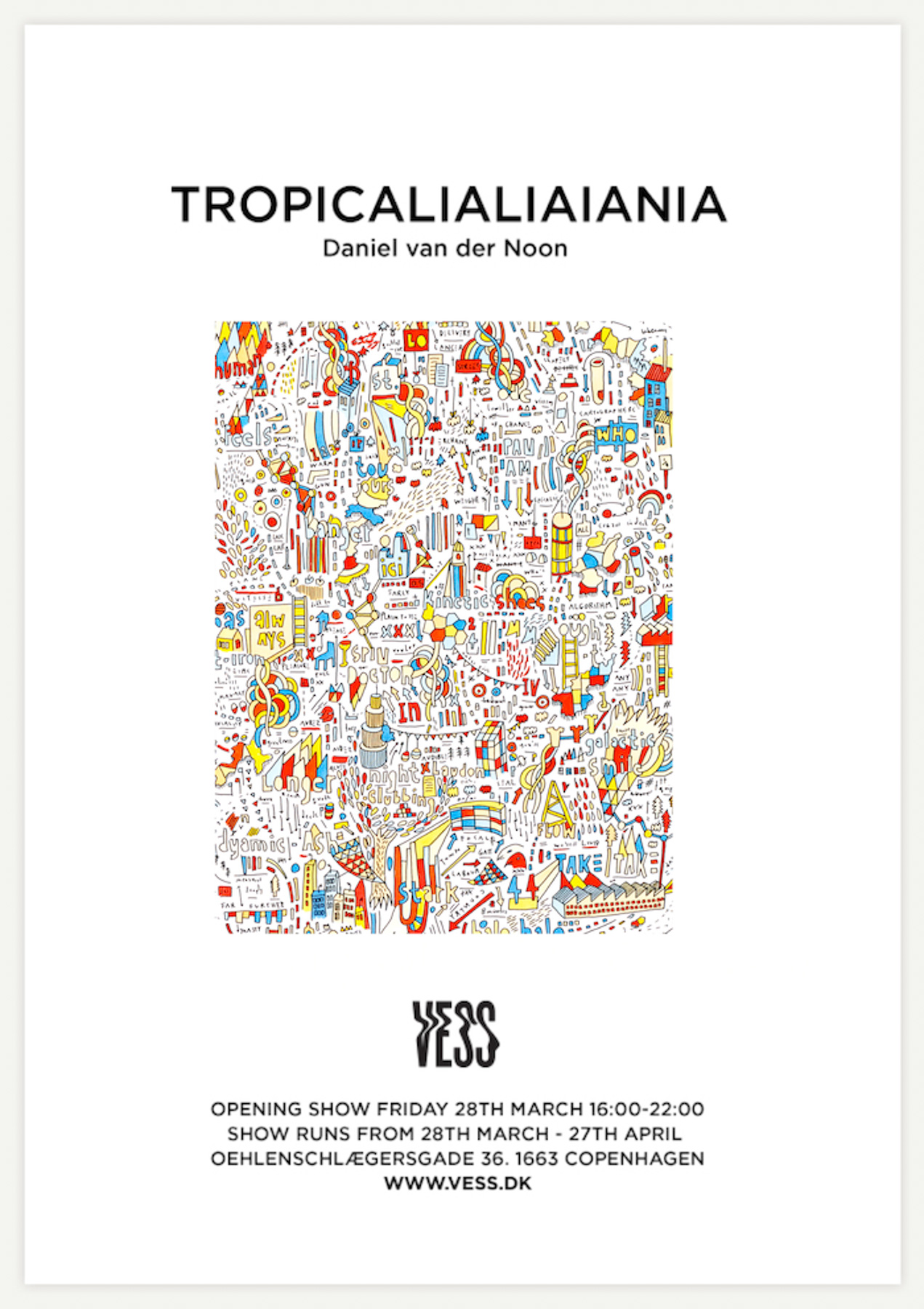 """Tropicalialiania"", VESS SHOWROOM, Vesterbro, Copenhagen, March 2014"