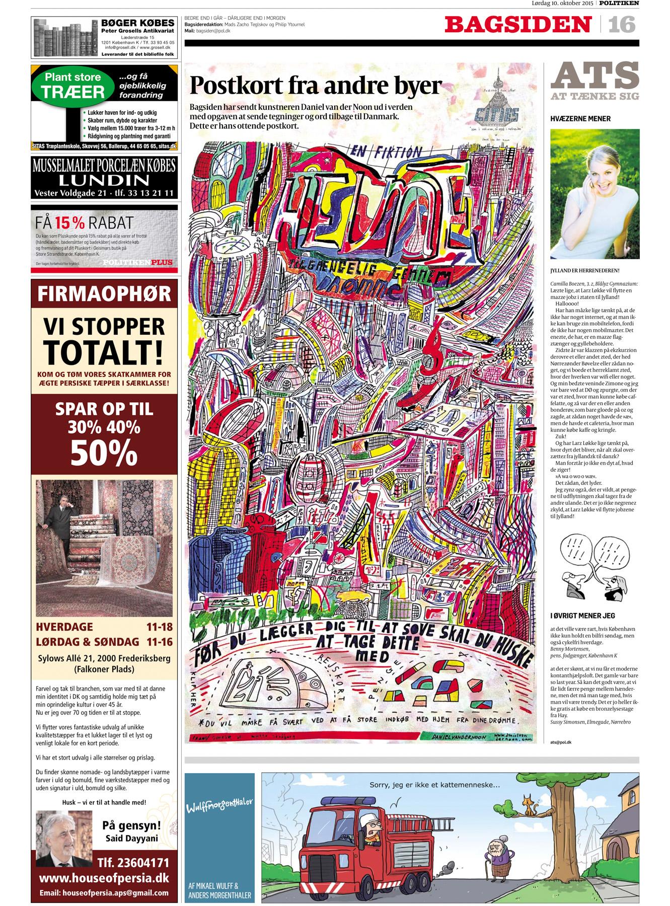 """""""Postkort Fra Andre Byer"""", POLITIKEN, 2015"""