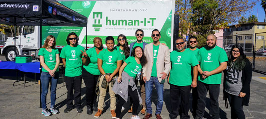 human-I-T team at techbreakup
