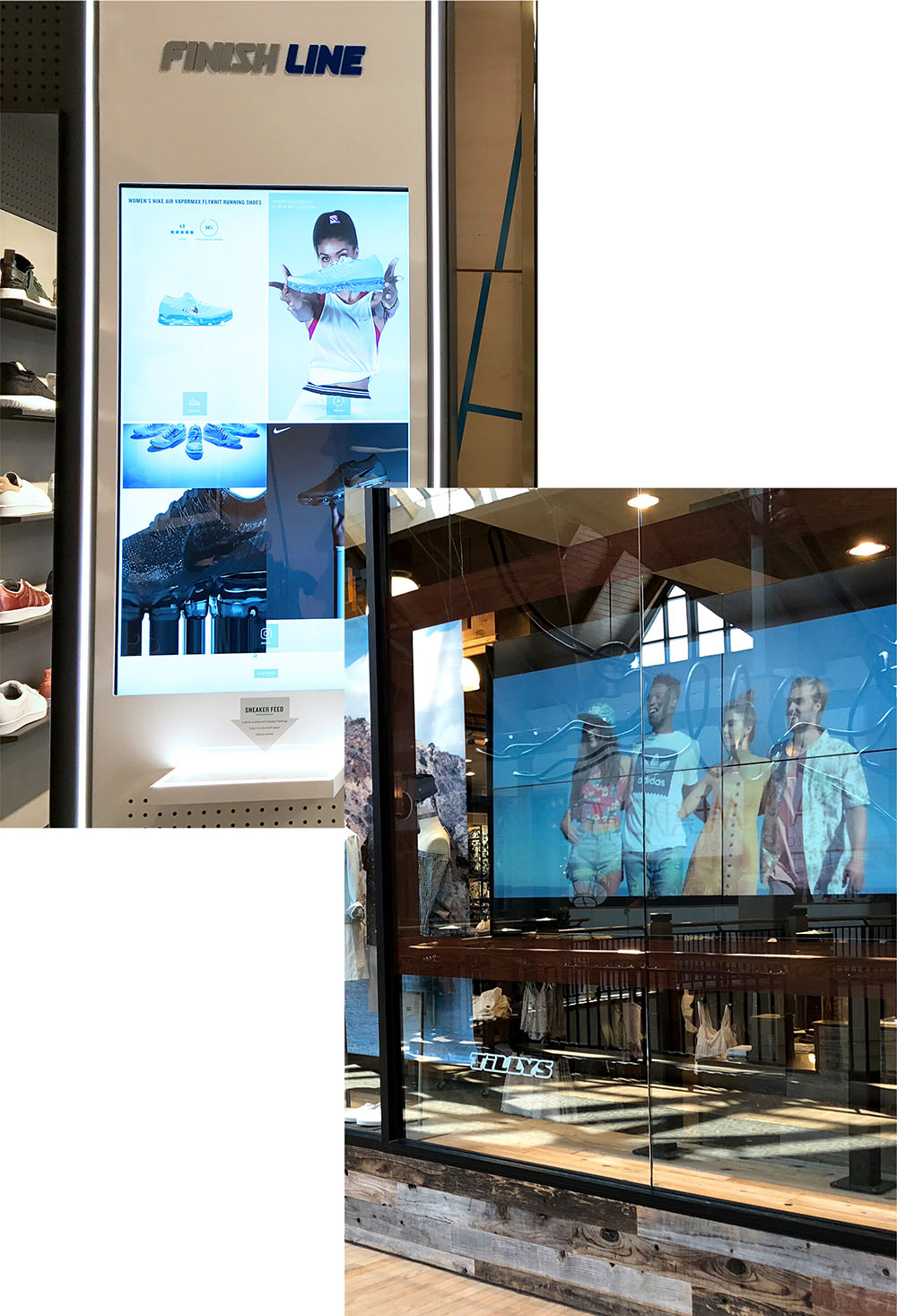 Video Wall and Touch Kiosk in Retail