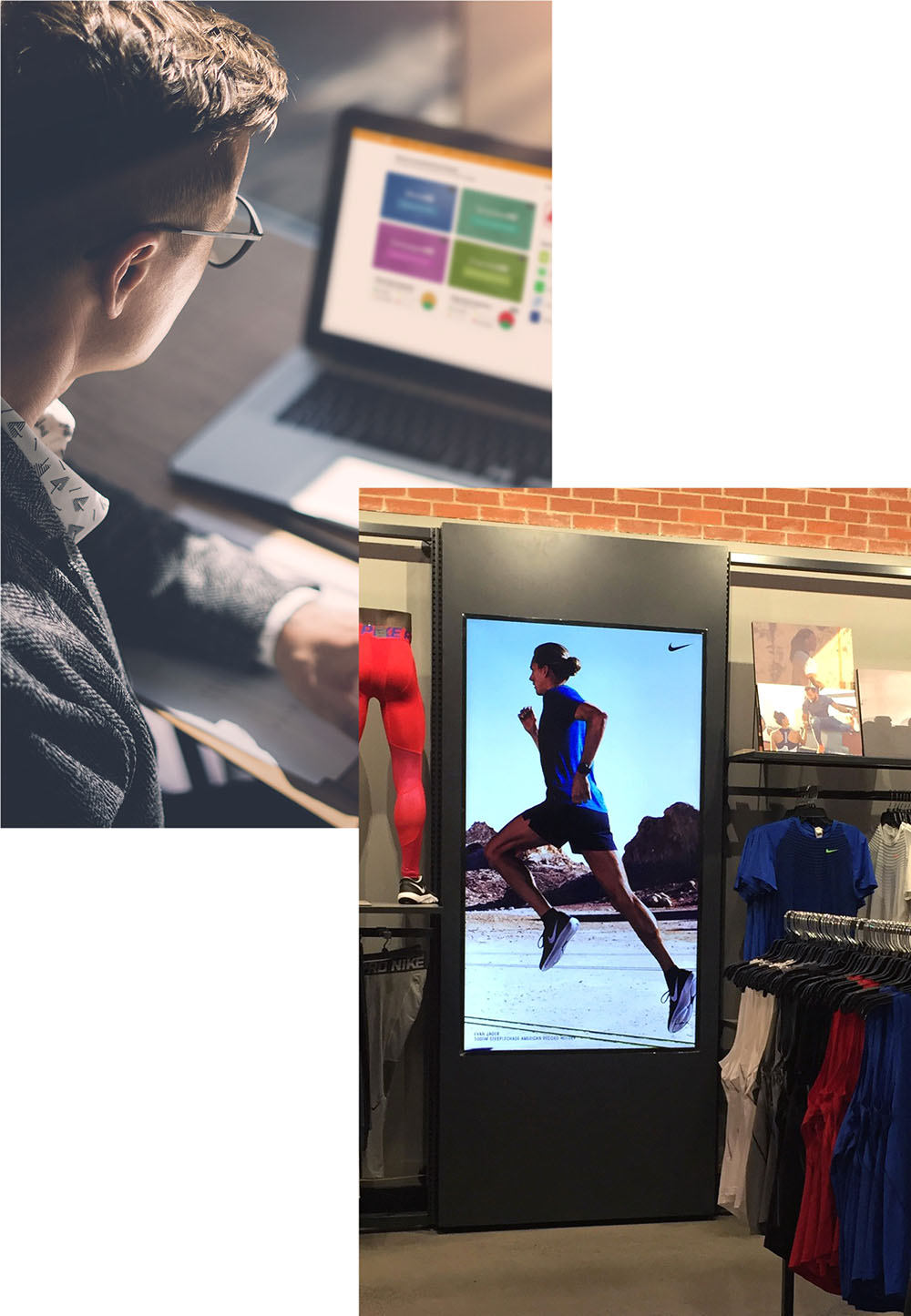 Digital Signage in Retail Setting