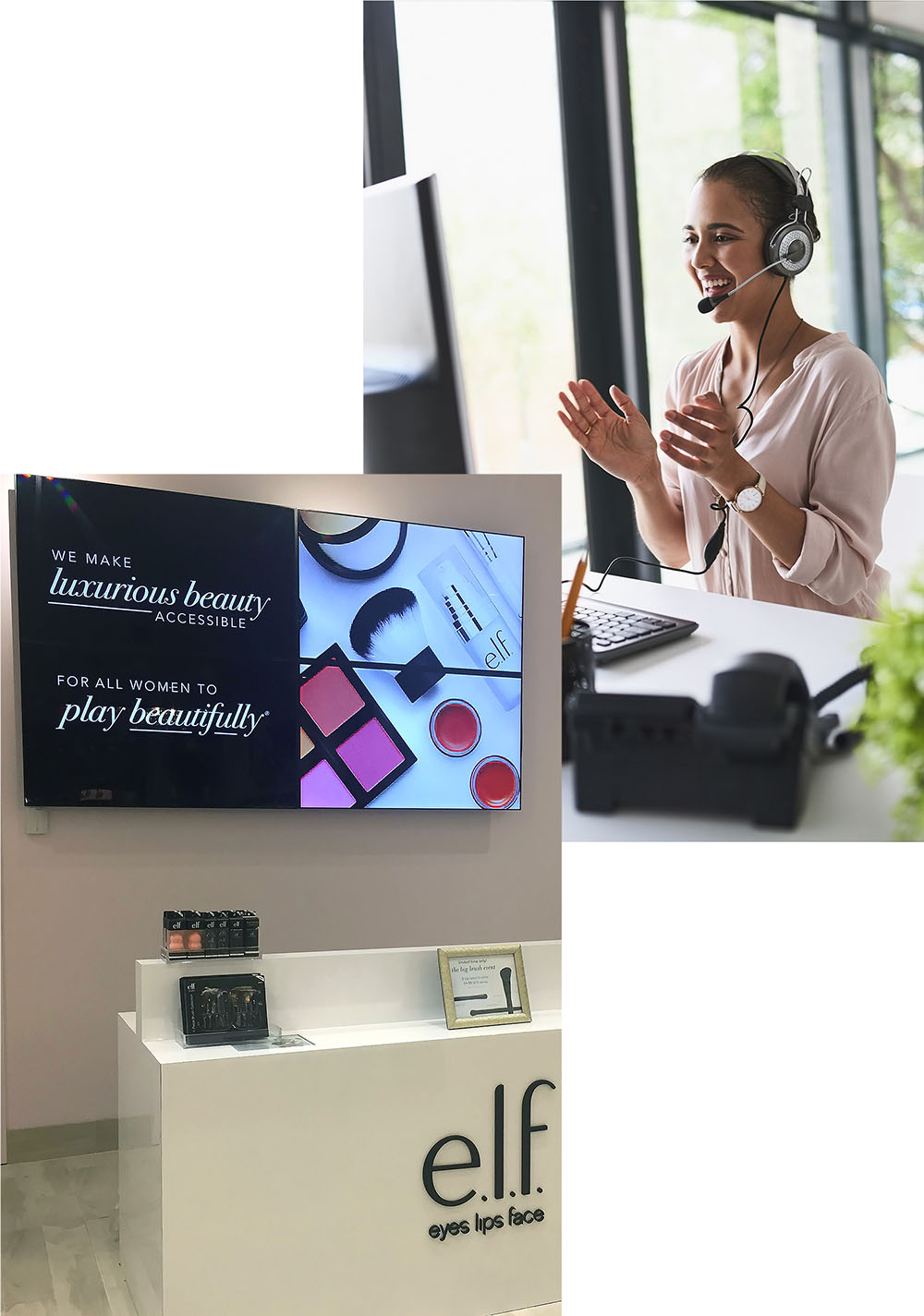 Dedicated support and Video Wall in Retail