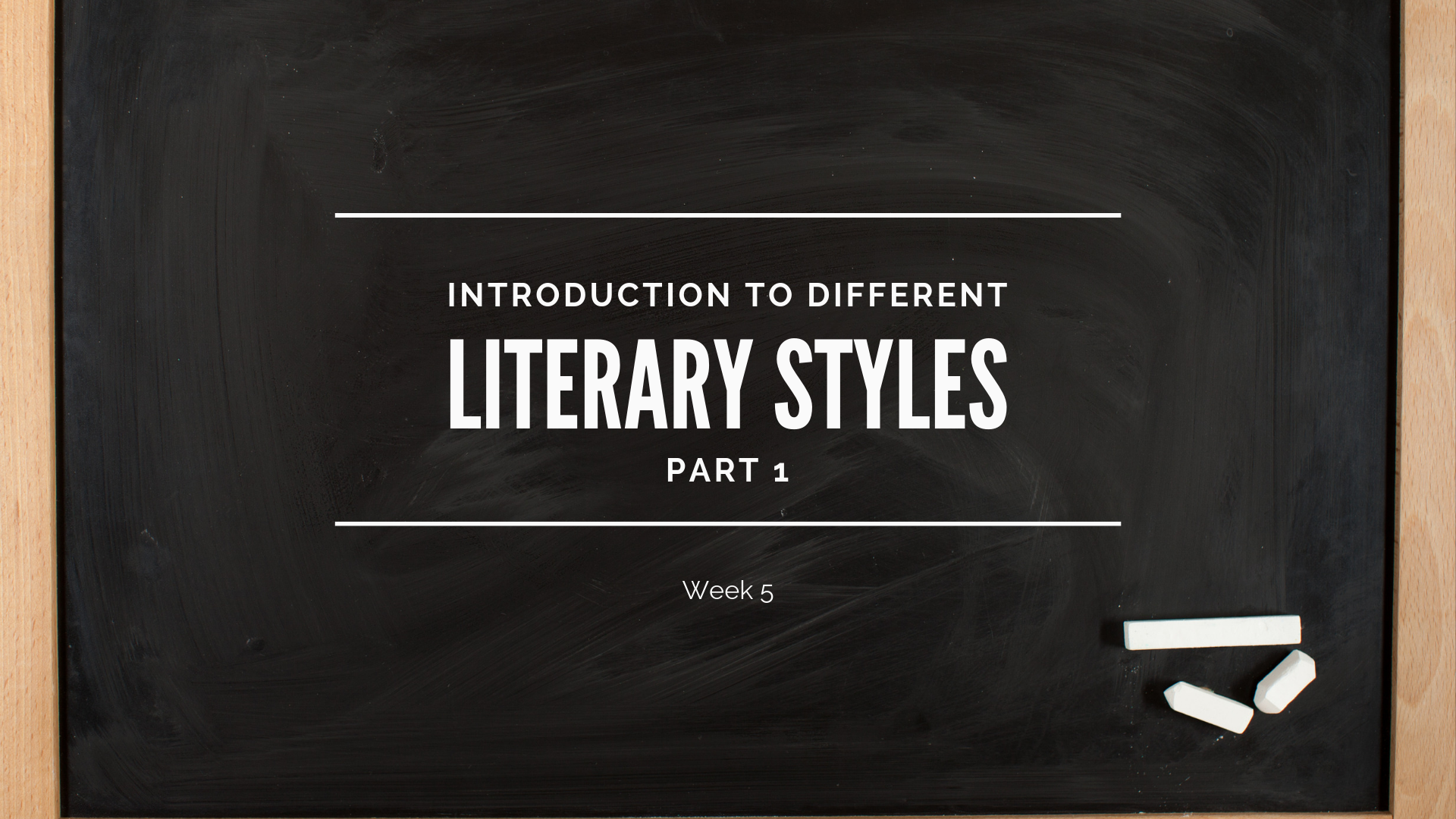 1c40935577de Introduction to Different Literary Styles (pt 1) | Community Church ...