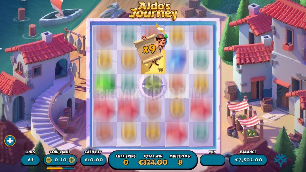 aldo's journey slot