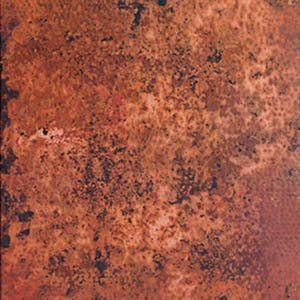 Fire Patina Hammered Copper