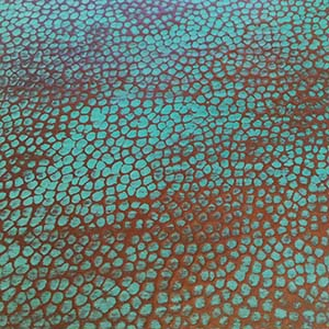 Green Patina Hammered Copper