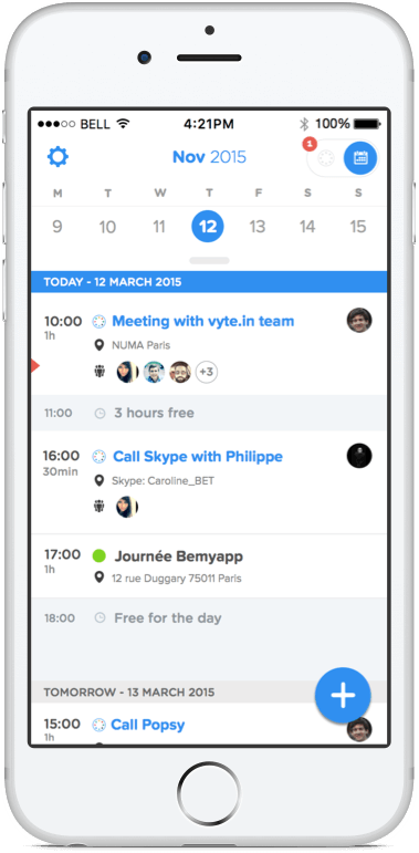 Vyte Ios App The Best Iphone Calendar App For Scheduling