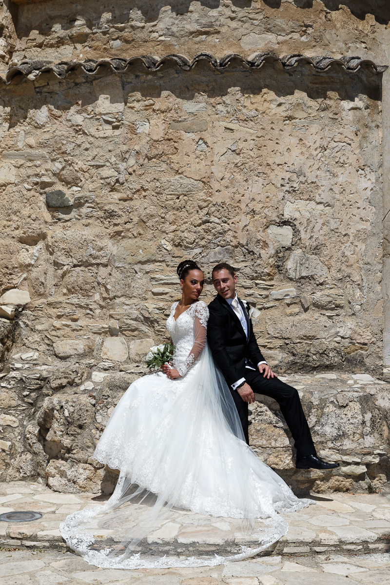 wedding photography outside the church in larnaca
