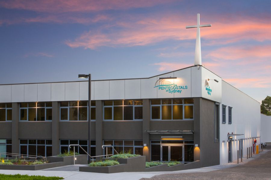 Pentecostals church facade