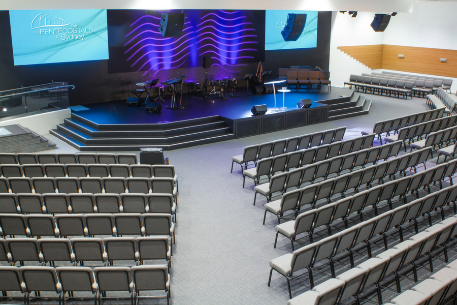 Pentecostals stage and auditorium seating