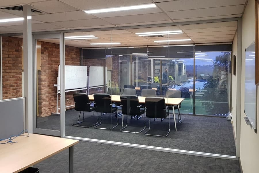 New glazing in place for boardroom