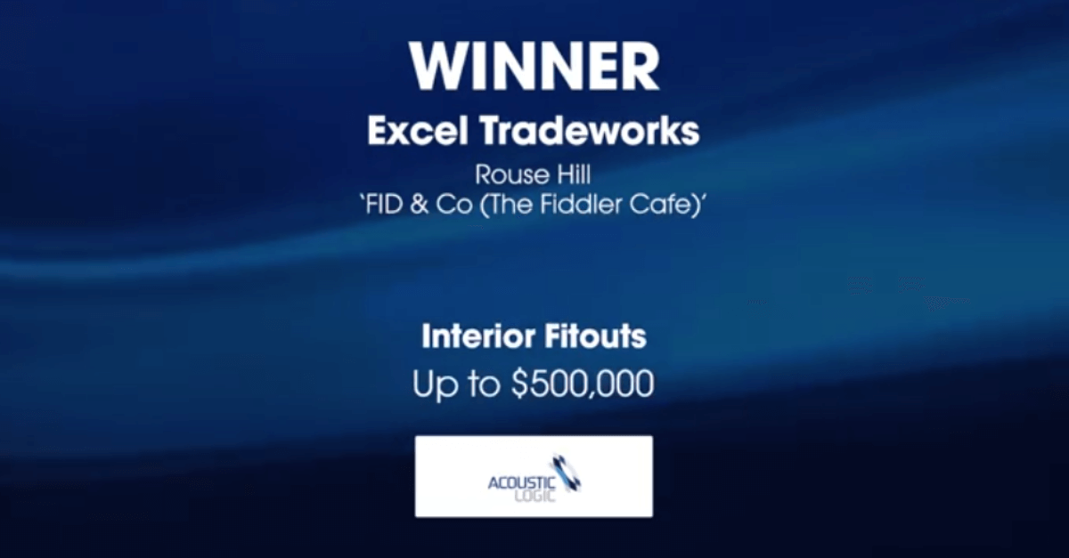 Excel Tradeworks award from MBA