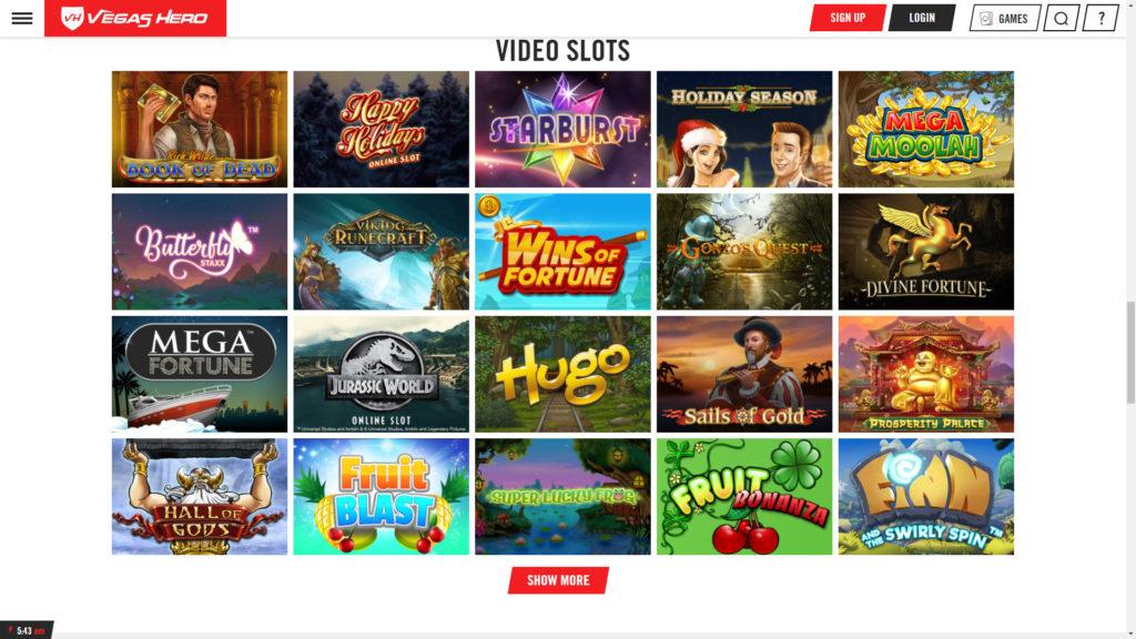 Vegashero Casino Slot Games
