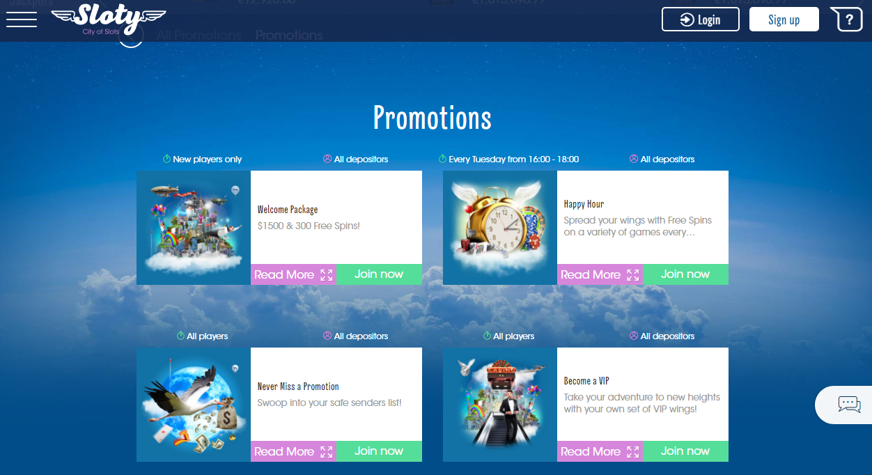 Sloty Casino has promotions for new and regular players