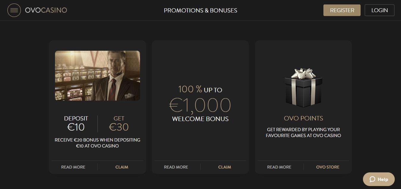 OVOCasino bonuses and promotions