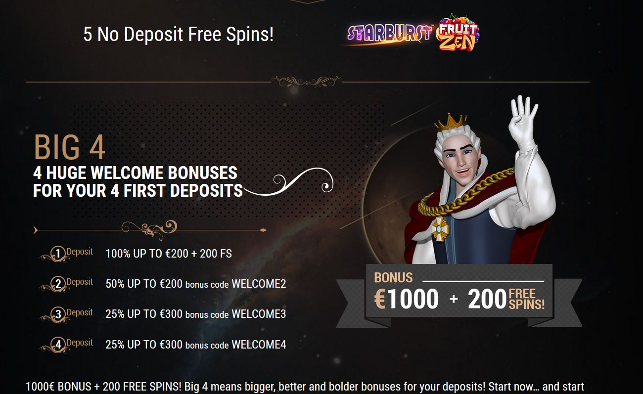 Kingbilly Casino offers a variety of different bonuses