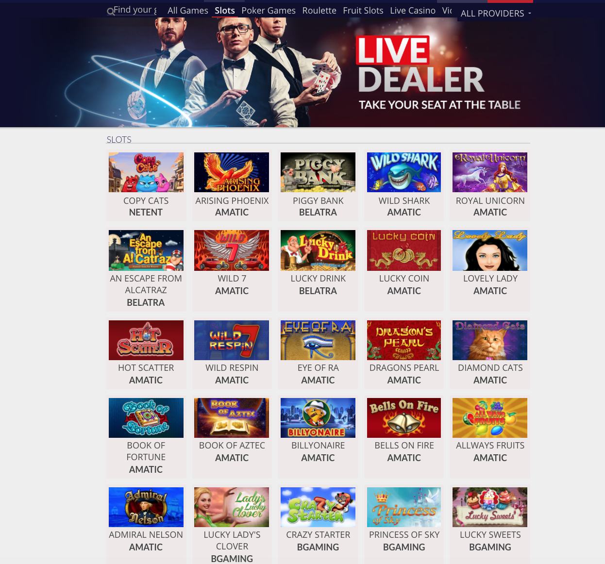 Joo Casino has an exensive selection of hig-quality slot games