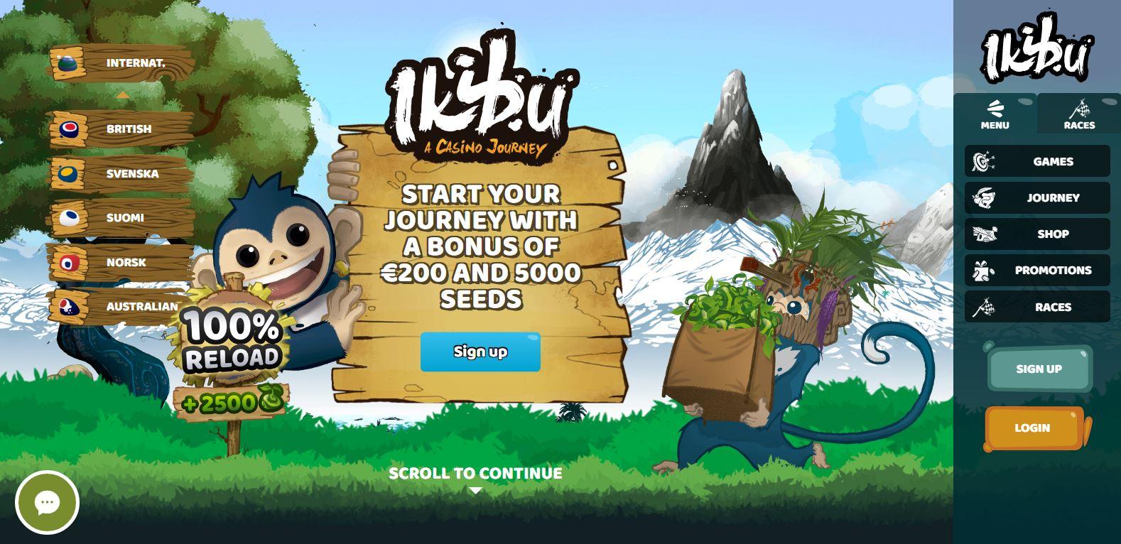 Ikibu Casino sign up bonus