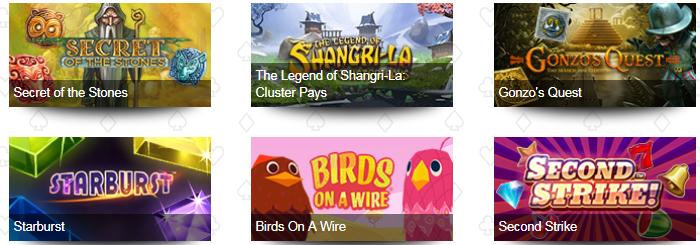 Betive Casino Games