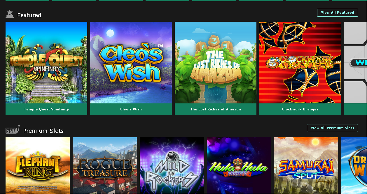 Bet365 Casino Featured slots