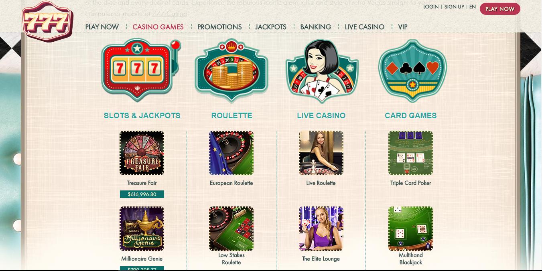 777 Casino slot games