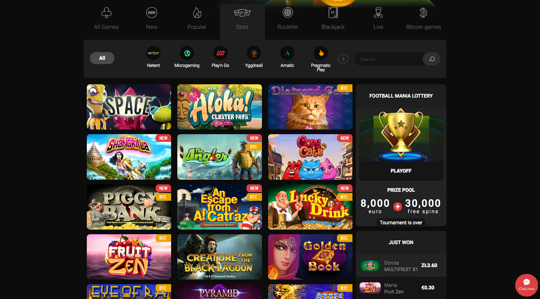 Betchan Casino Game Selections